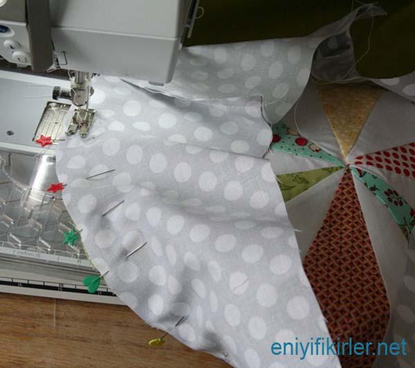 resimli yuvarlak yastık dikimi