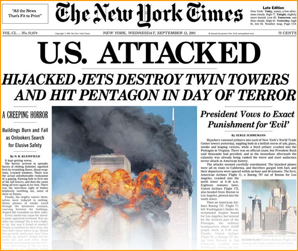 Image result for new york times 9/11
