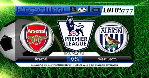 PREDIKSI SKOR  Arsenal vs West Brom  26 SEPTEMBER 2017