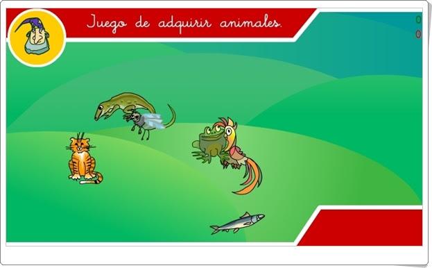 """""""Juego de adquirir animales"""" (Ciencias Naturales de 1º y 2º de Primaria)"""