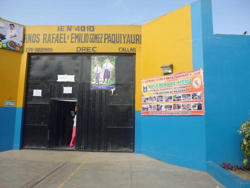 Colegio 4010 HERMANOS RAFAEL SAMUEL Y EMILIO MOISES GOMEZ PAQUIYAURI - Callao