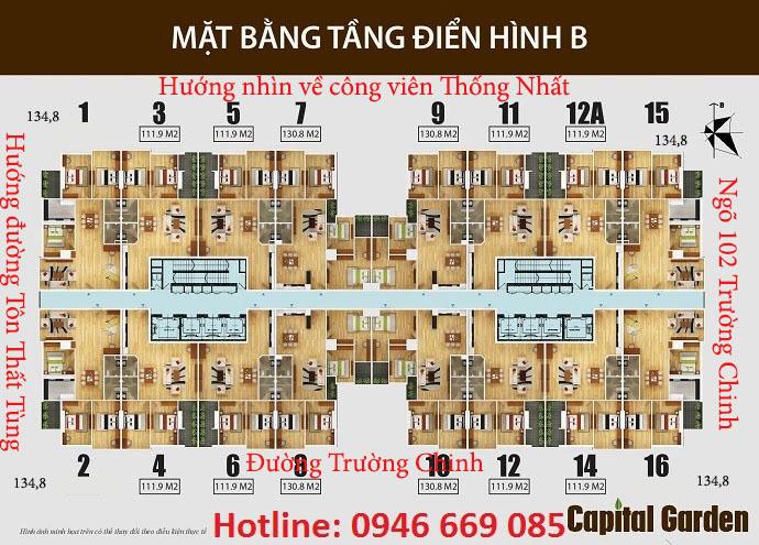 Thiết kế chung cư capital garden tầng 2A - 15