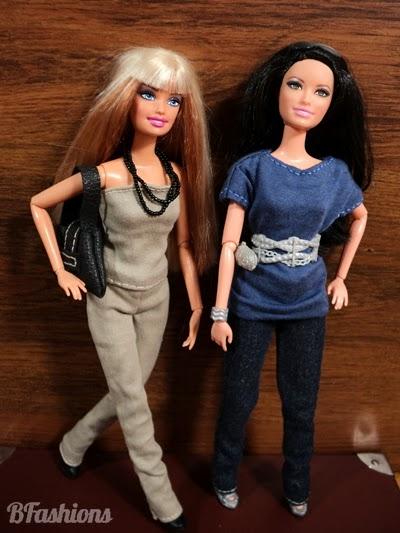 Proste spodnie dla Barbie