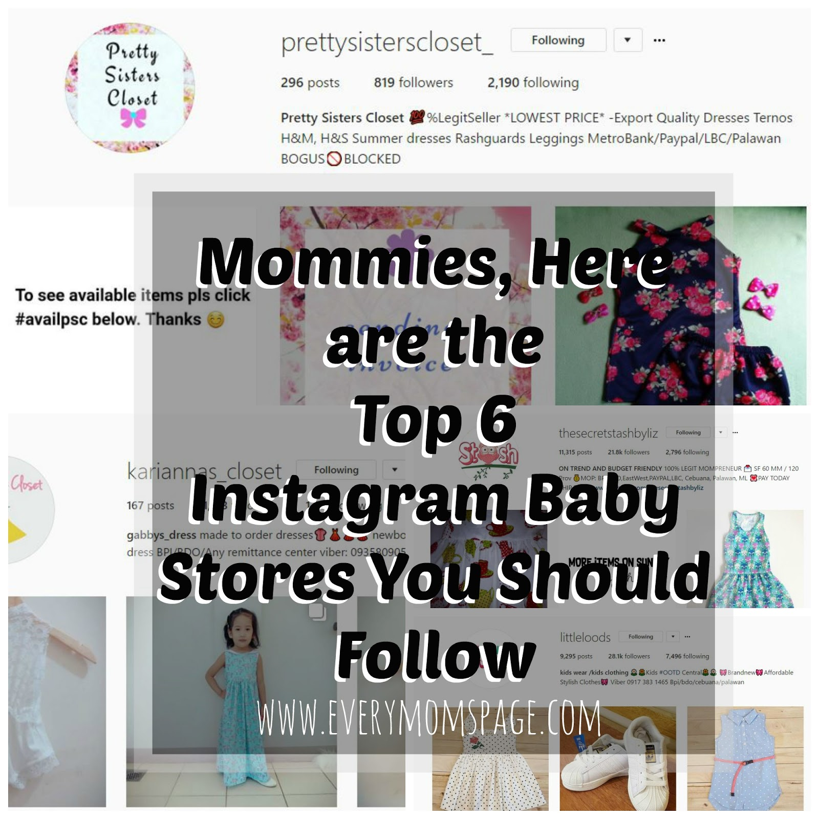 EveryMom sPage Top 6 Instagram Baby Stores You should Follow