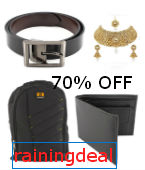 Bags, Wallets, Sunglasses & Belts Minimum 70% off from Rs 149 at Amazon