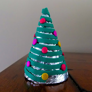 Extruded polymer clay on cone