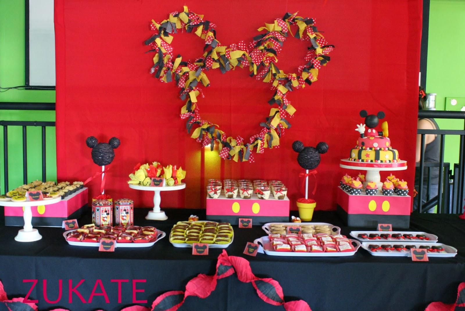 Fiesta de mickey para lauti zukate for Ornamentacion para fiesta de 15