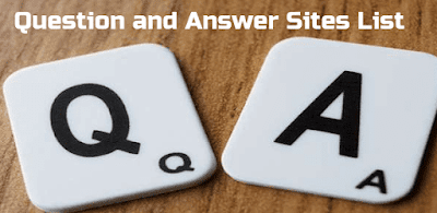 Question and Answer Website List 2019