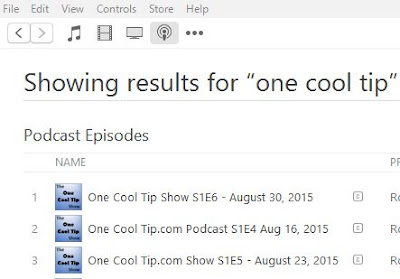 The One Cool Tip Show - www.onecooltip.com iTunes