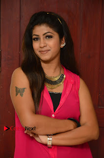 Actress Geethanjali Pictures in Pink Dress at Avanthika Movie Opening 0003