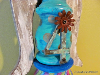 recycled elements in fun and funky art