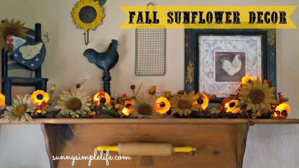 sunflower lights, burlap