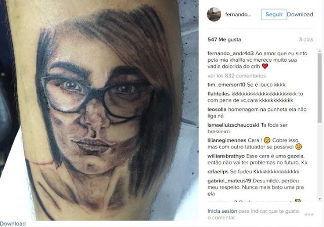 Mia Khalifa destruye un fan que se tatuó su cara