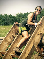 Nicole Rovig Climbing an Obstacle