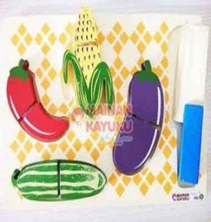 Mainan Anak Chunky Sayur Potong