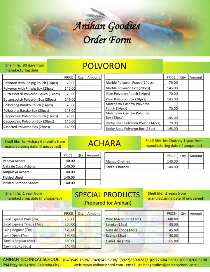 anihan goodies order form 2017 page 2 left click to enlarge image right click to save image