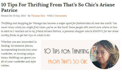 10 tips for thrifting