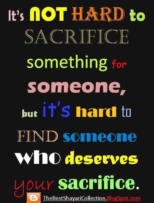 Whatsapp Sms, WhatsApp Status, Two line Sms - It's not hard to sacrifice something for someone
