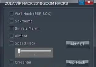 ZULA Zoom Menu Wall,Aimbot Hilesi 4 Mayıs 2018 - Yeni
