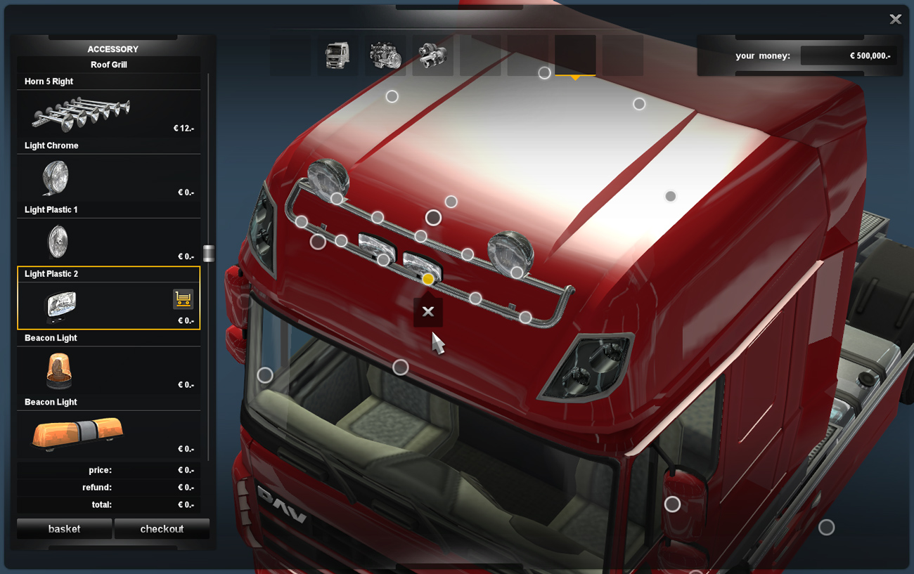 Roof-Mounted Horns from pre-release ETS2  - SCS Software