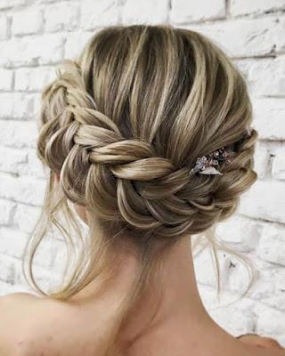 peinado con trenza recogido tumblr elegante