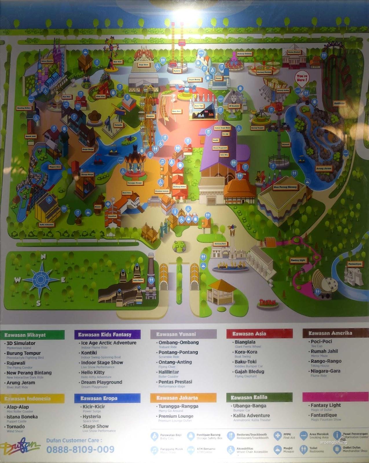 peta informasi dunia fantasi ancol jakarta