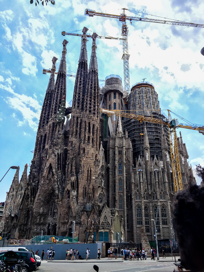 Sagrada Familia in Barcelona. famous monument.