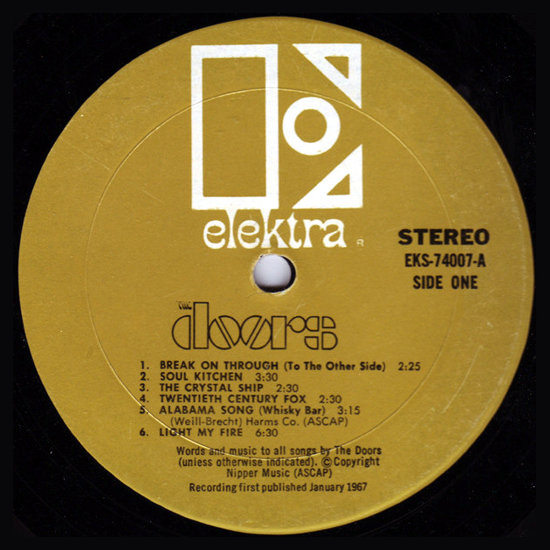 The Doors, first album 1967, side A