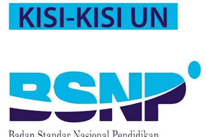 Download Kisi Kisi UN dan USBN SD SMP SMA SMK 2018/2019 Semua Mapel Terlengkap