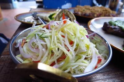 Meatsmith Little India, green mango salsa