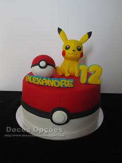 Bolo de aniversário Pikachu