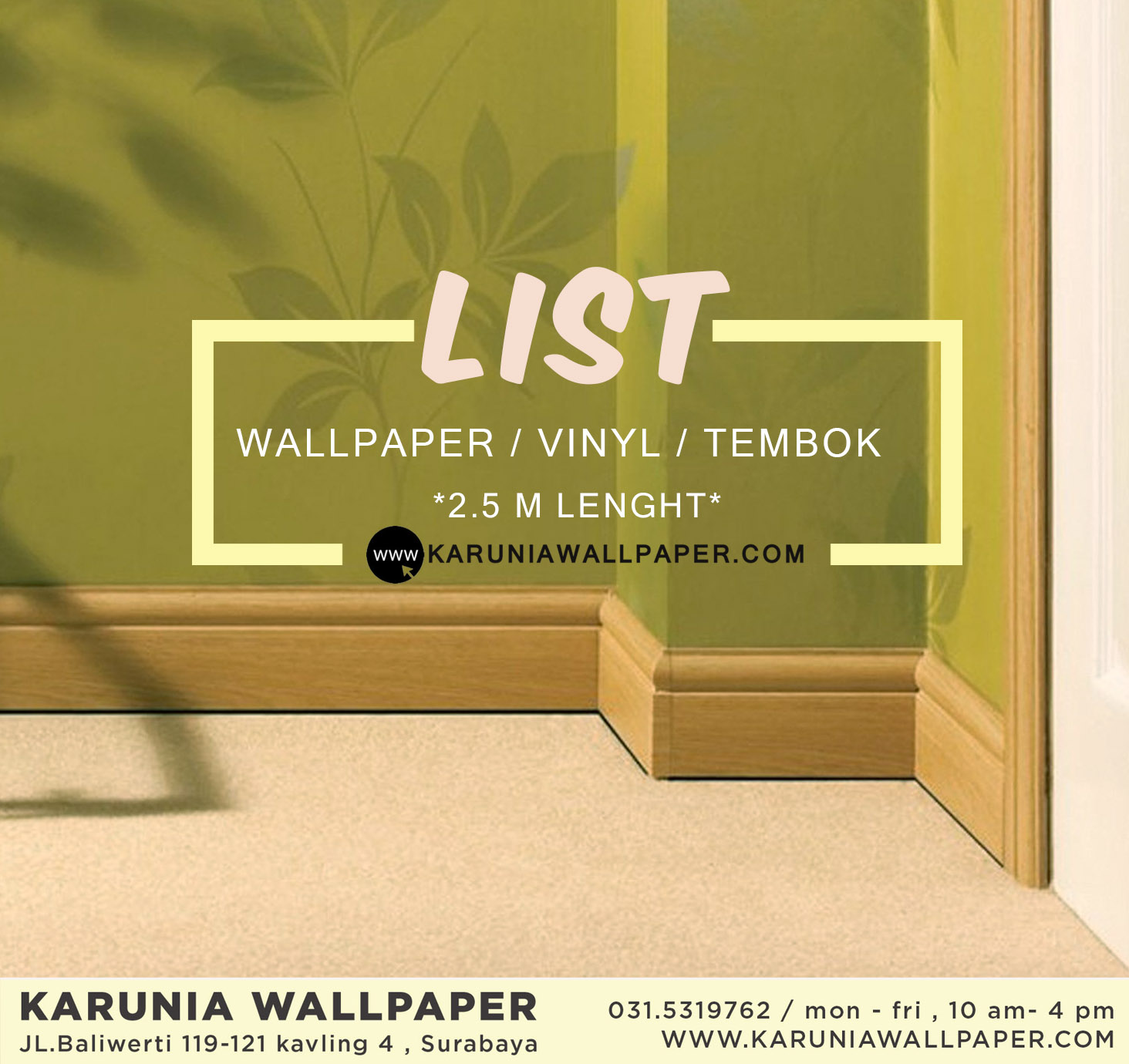 jual skirting list wallpaper surabaya