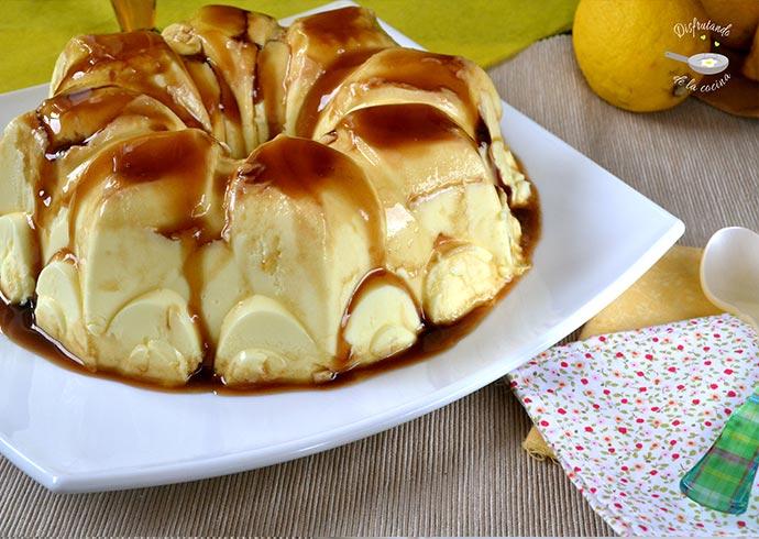 Flan o gelatina de limón y leche condensada