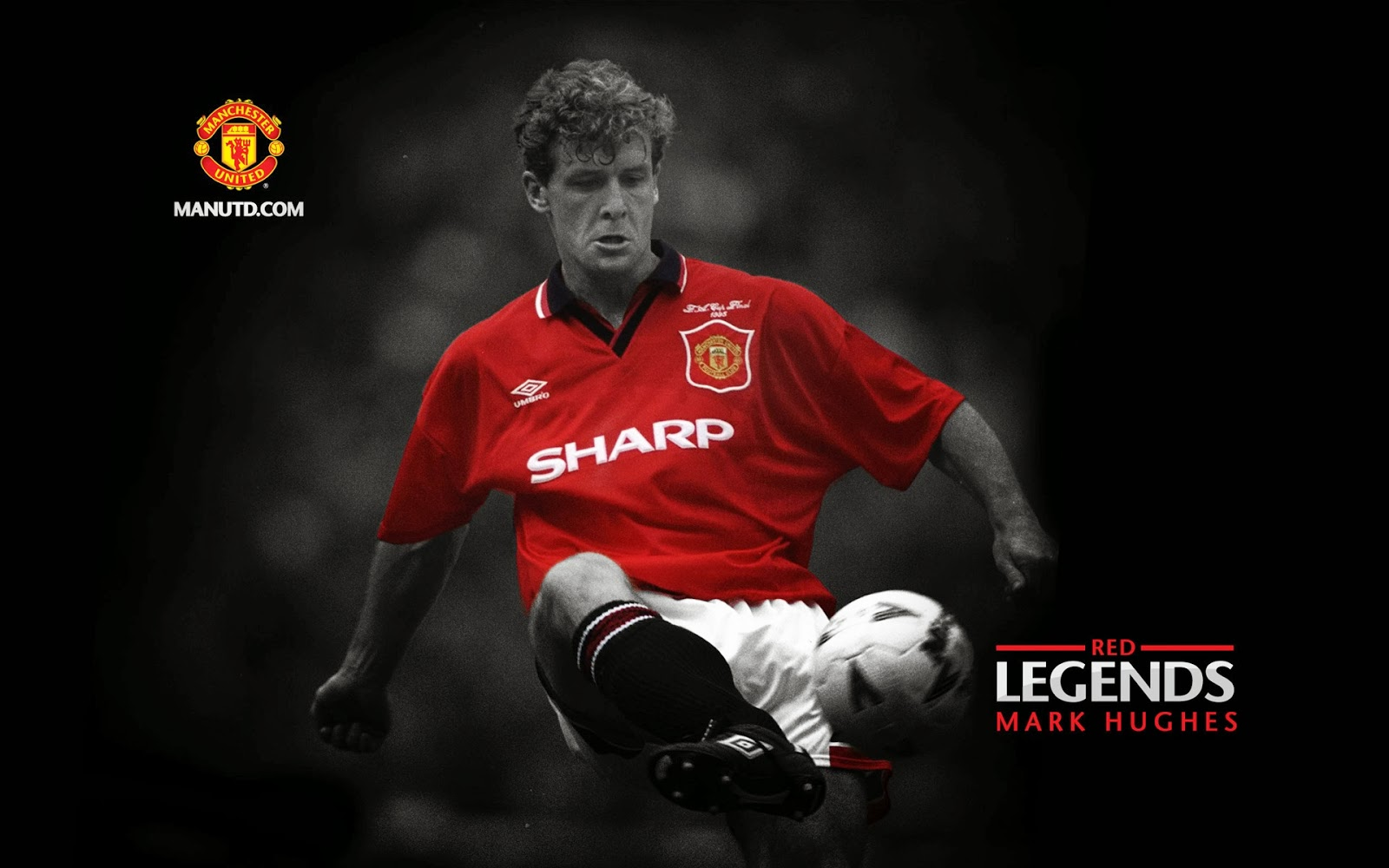 Motorcycles Of Manchester >> Hughes: Red Legends Manchester United ~ Mystery Wallpaper