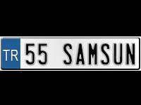 """SAMSUN Samsun plaka kodu """"55"""""""