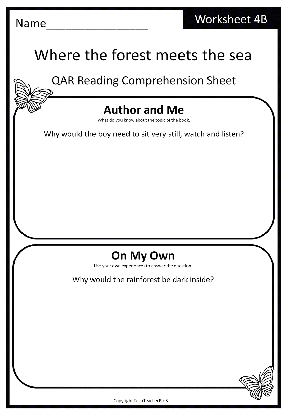 Foundation into First Where the forest meets the sea exploring – Qar Worksheet