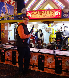 Scarface's shooting gallery in Blackpool