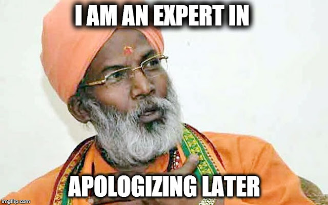 Sakshi Maharaj - I am an espert in apologizing later