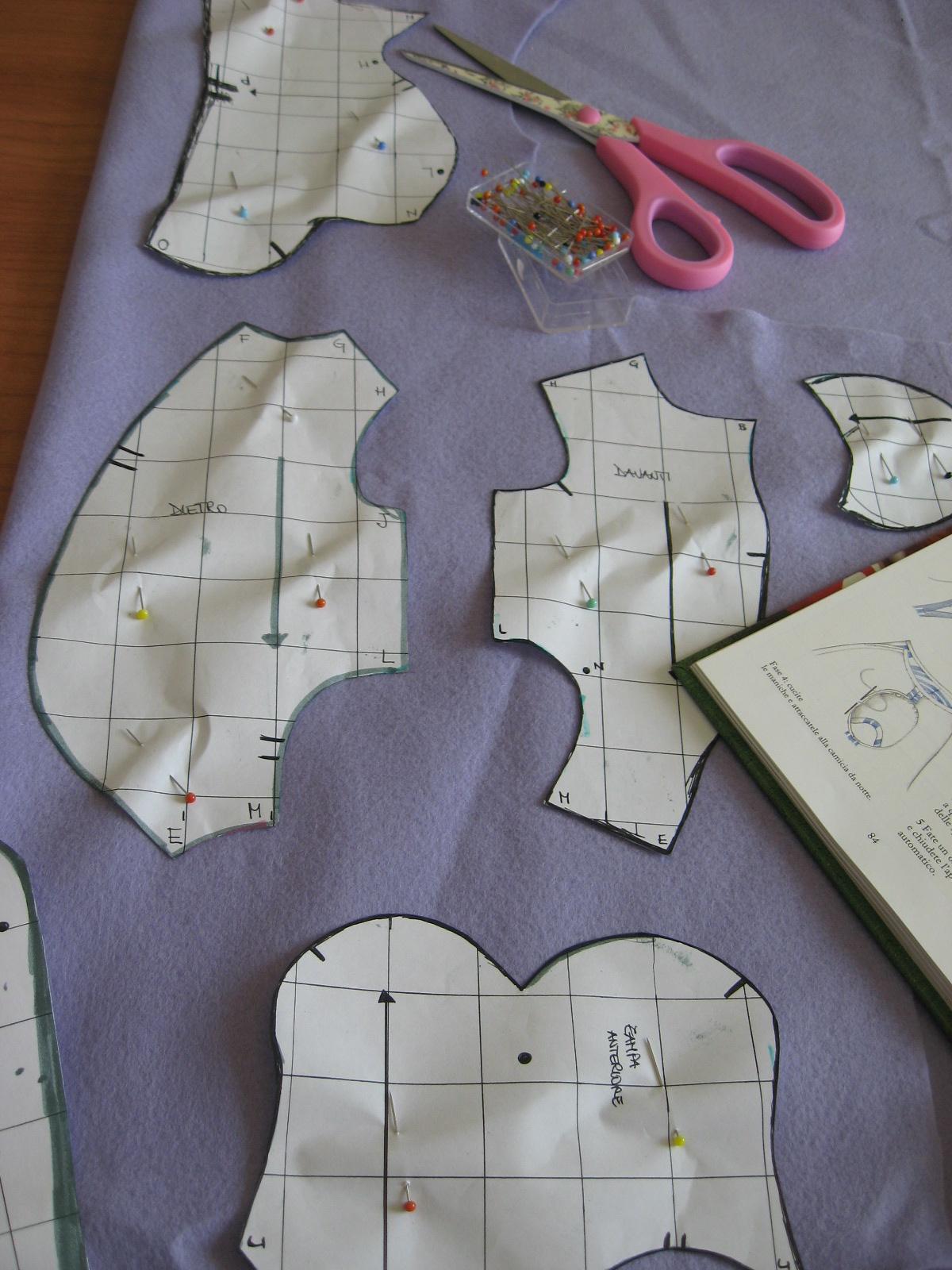 Carta e Cuci  L Orso - Work in progress - Fissare il cartamodello al ... fc0eaa259149