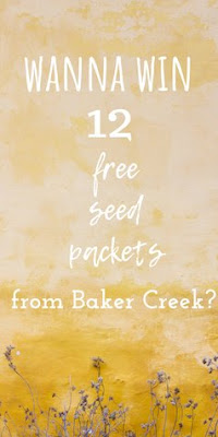 Enter for a chance to win seeds for your fall garden from Baker Creek Heirloom Seeds.