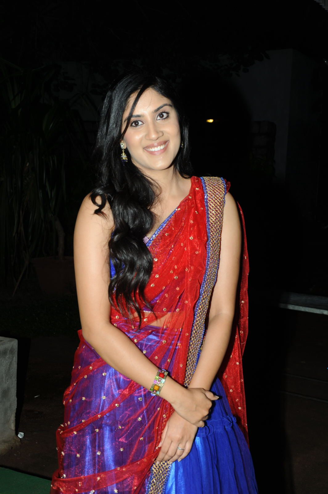 Cute Dhanya balakrishnan photos in traditional dress at second hand movie audio launch