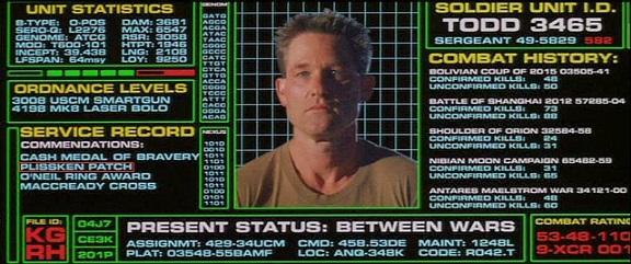 Ficha de Todd (Kurt Russell) - Película Soldier