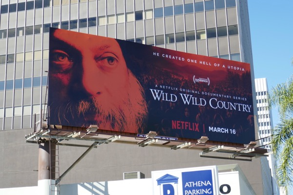 Wild Wild Country series premiere billboard