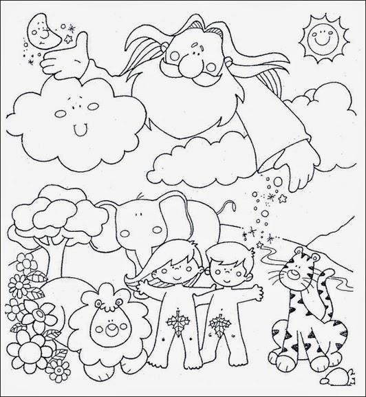 Adn Y Eva Para Colorear Dibujos Para Nios