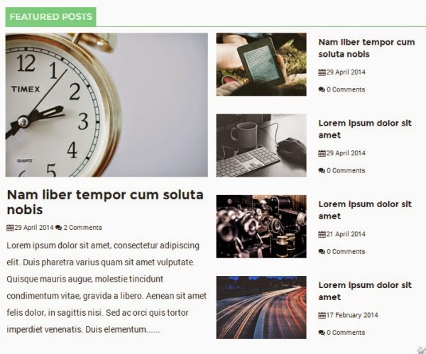 Newspaper Responsive Blogger Template 2