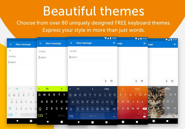 Swiftkey-keyboard-different-themes
