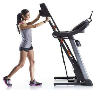 Folding NordicTrack c 1650 treadmill tablet holder