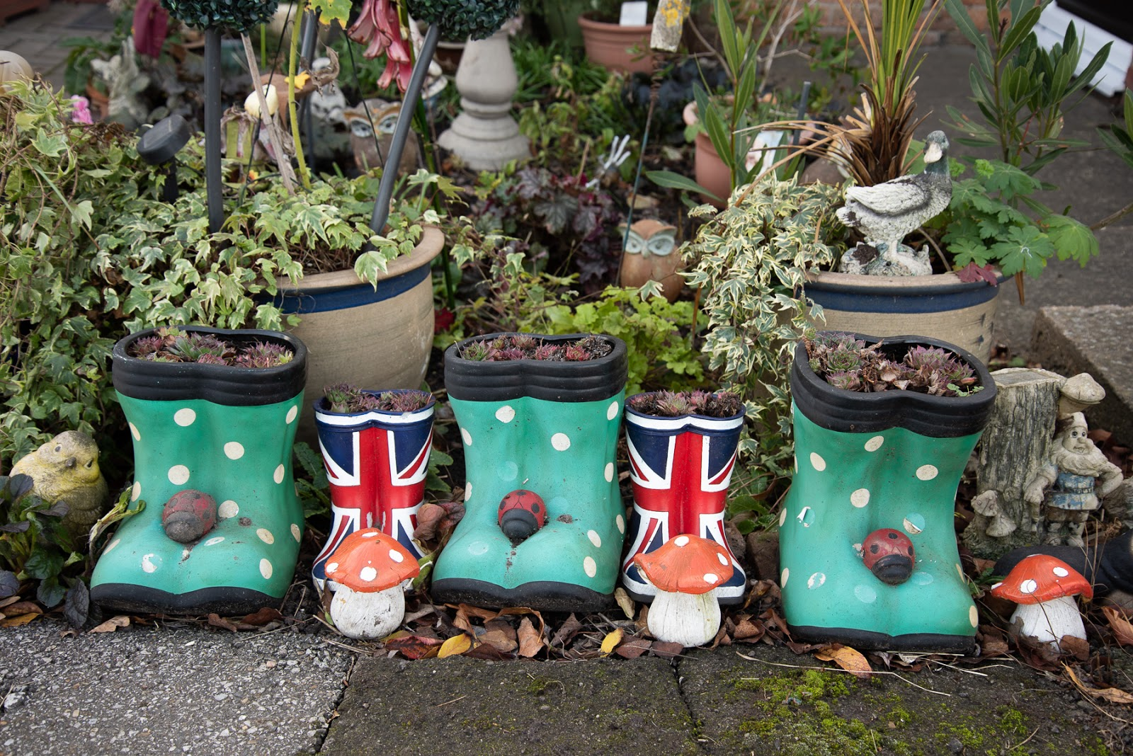 Wellies with Union Flag