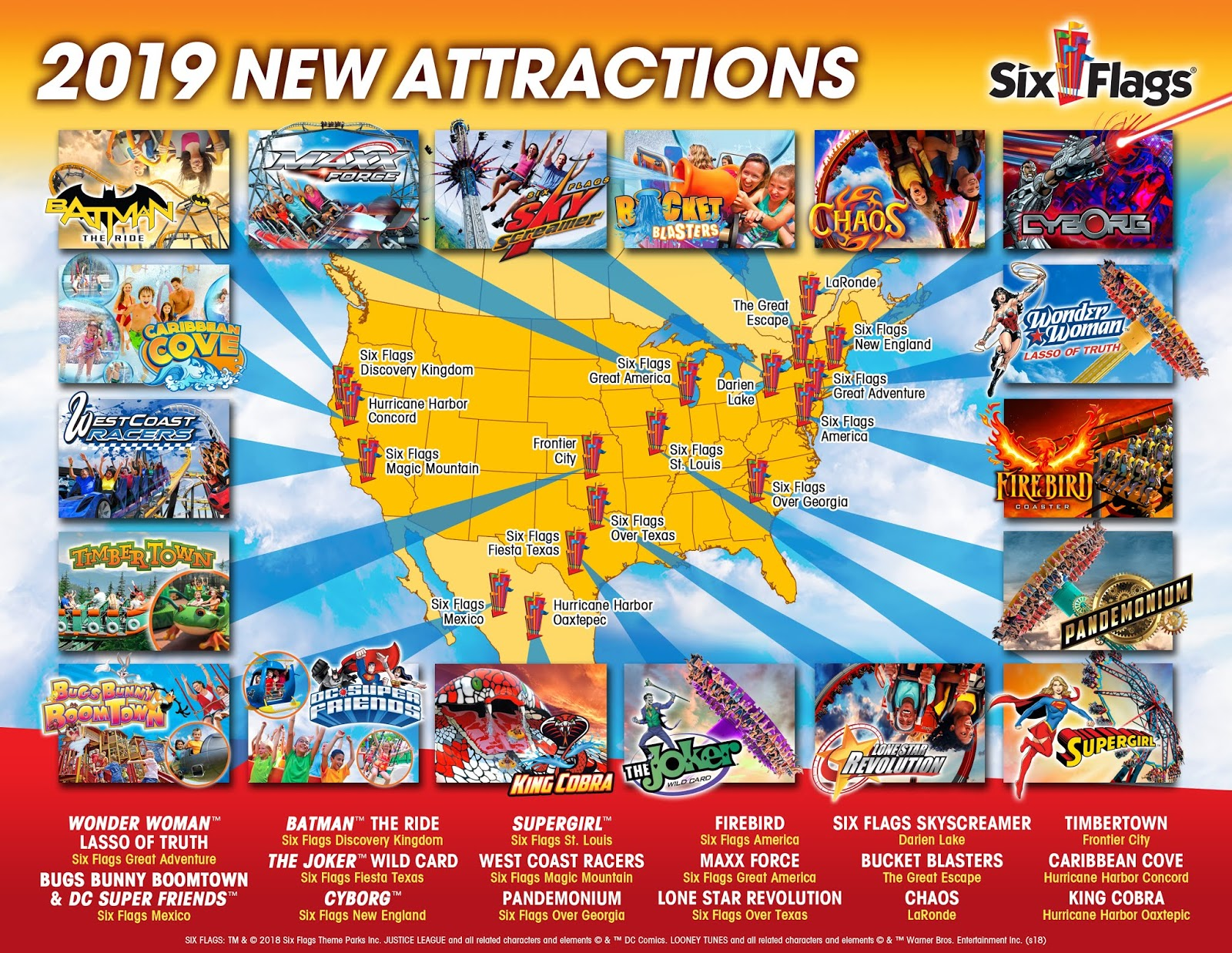 EVERY 2019 Six Flags New Attraction Confirmed - New Rides ... on six flags nj map, magic springs and crystal falls map, dorney park map, washington street mall map, kingda ka map, mt. olympus water & theme park map, kiddieland map, kennywood map, holiday world santa claus indiana map, the gallery at market east map, penn hills resort map, knott's berry farm map, magic kingdom map, 2014 six flags magic mountain map, great america map, cedar point map, thorpe park map, wyandot lake map, big e fair map, 2014 six flags over georgia map,