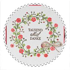 Karte Blumen Kranz Stampin up